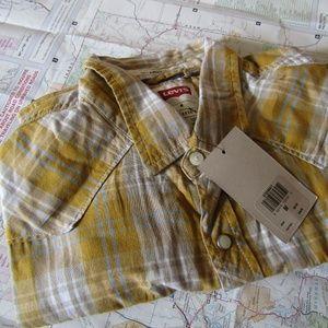 Levi's Modern Fit Button Plaid Shirt size M